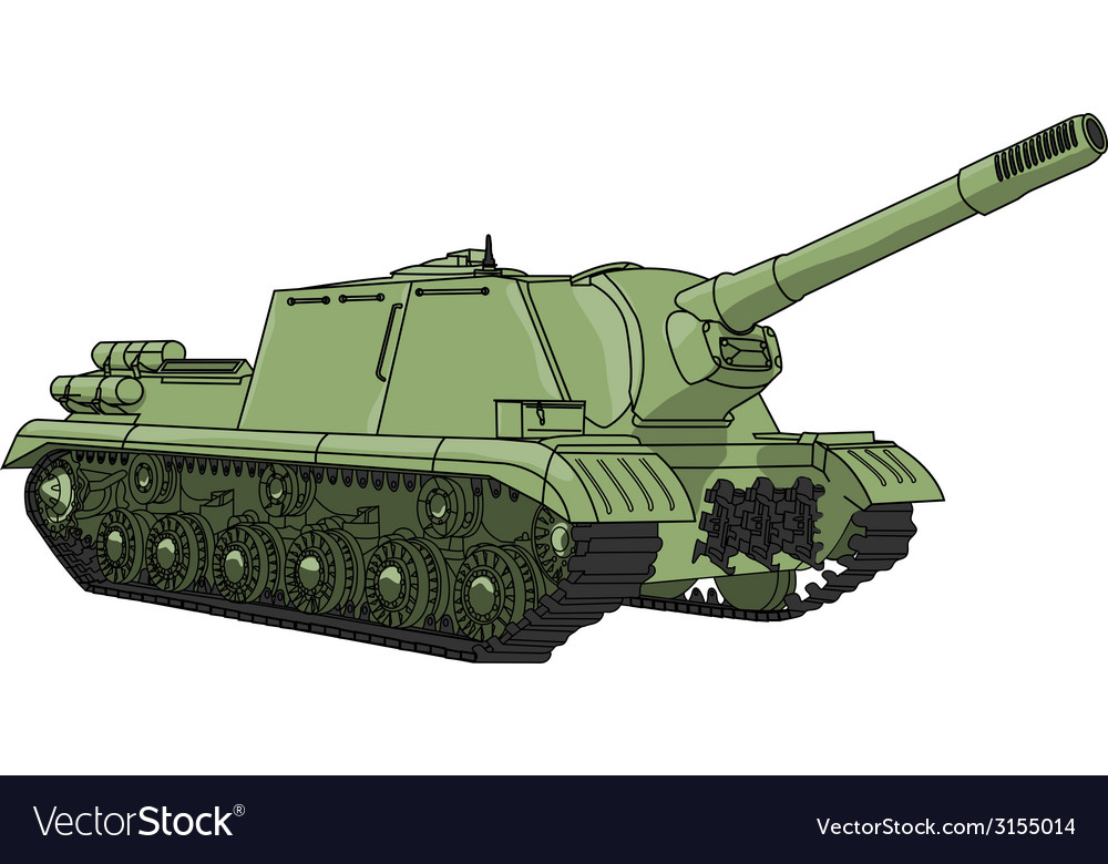 Self propelled gun vector | Price: 1 Credit (USD $1)
