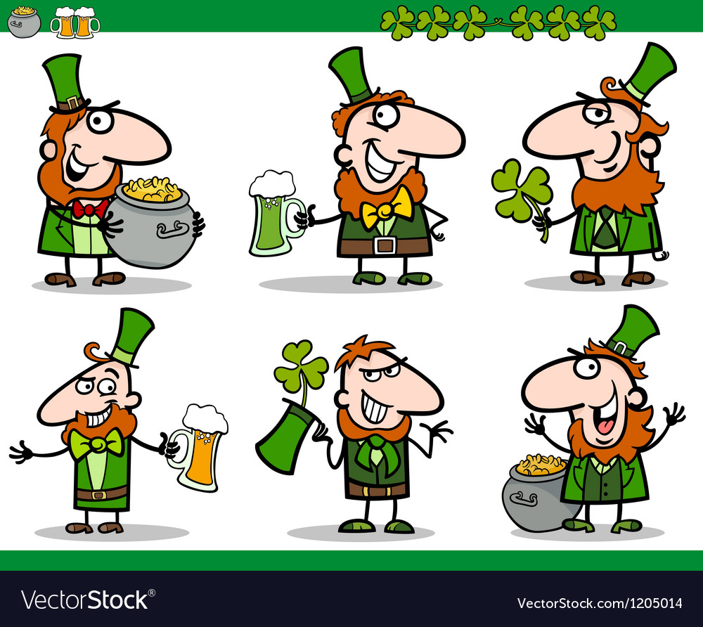 St patrick day themes set cartoon vector | Price: 3 Credit (USD $3)