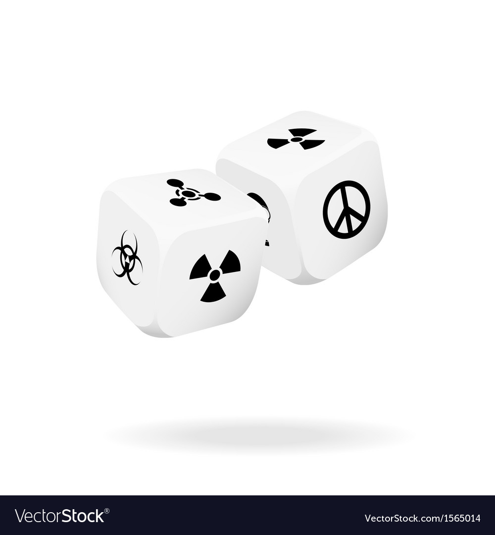 Two white dice of war vector | Price: 1 Credit (USD $1)