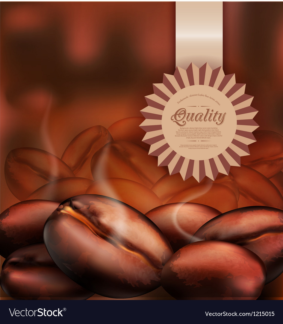 Background with coffee beans close-up vector | Price: 1 Credit (USD $1)