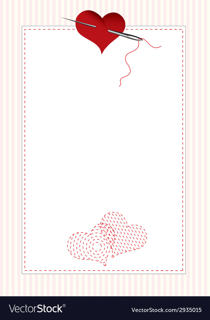 Border with hearts vector | Price: 1 Credit (USD $1)
