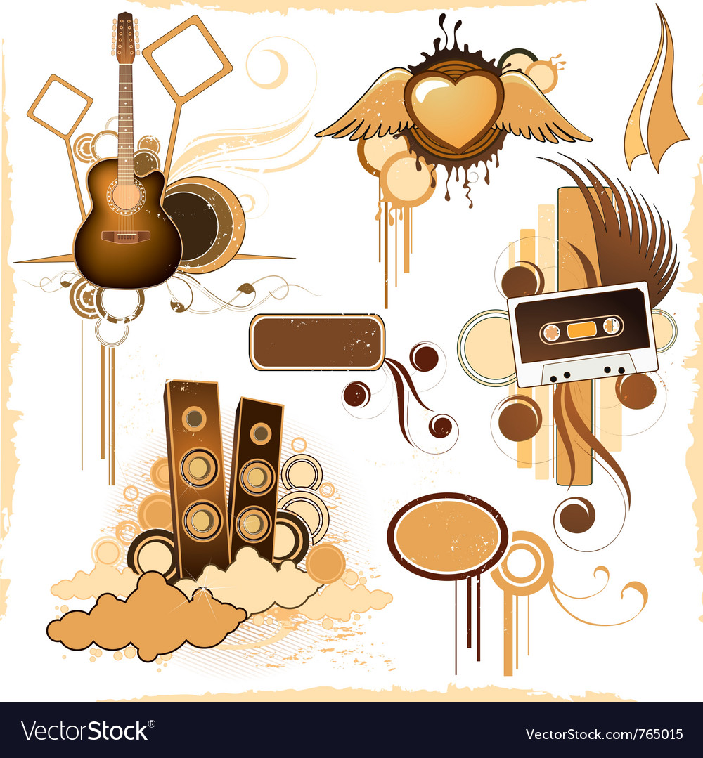 Compositions of musical elements vector | Price: 1 Credit (USD $1)