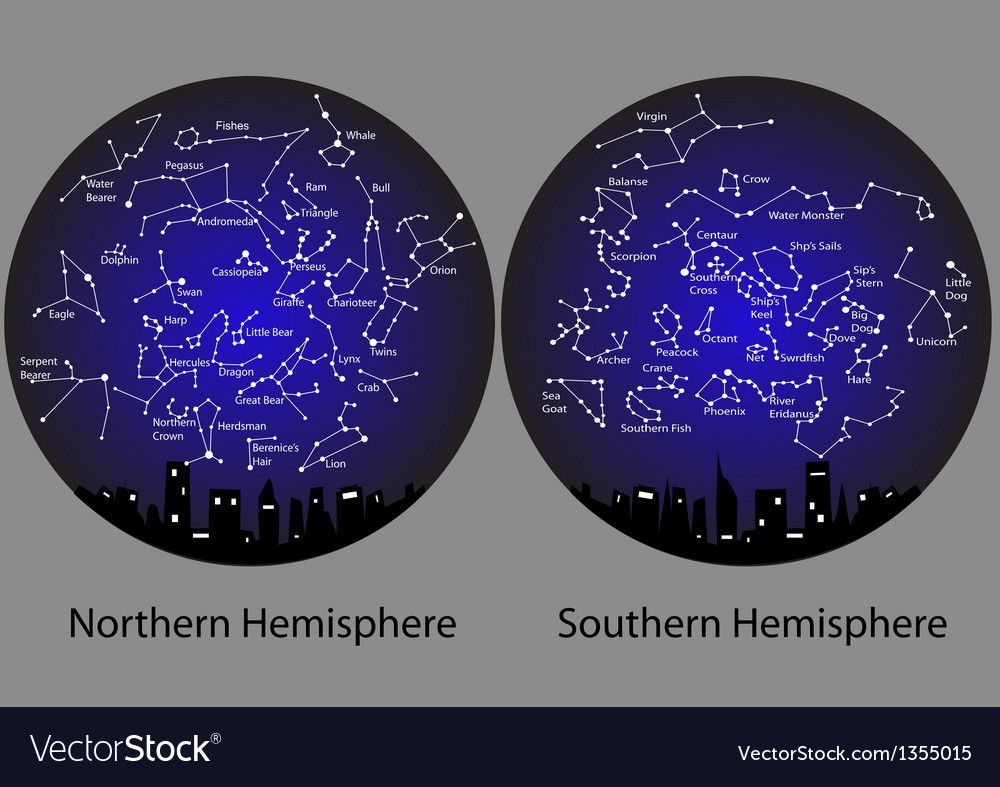 Constellations of the northern and southern vector | Price: 1 Credit (USD $1)