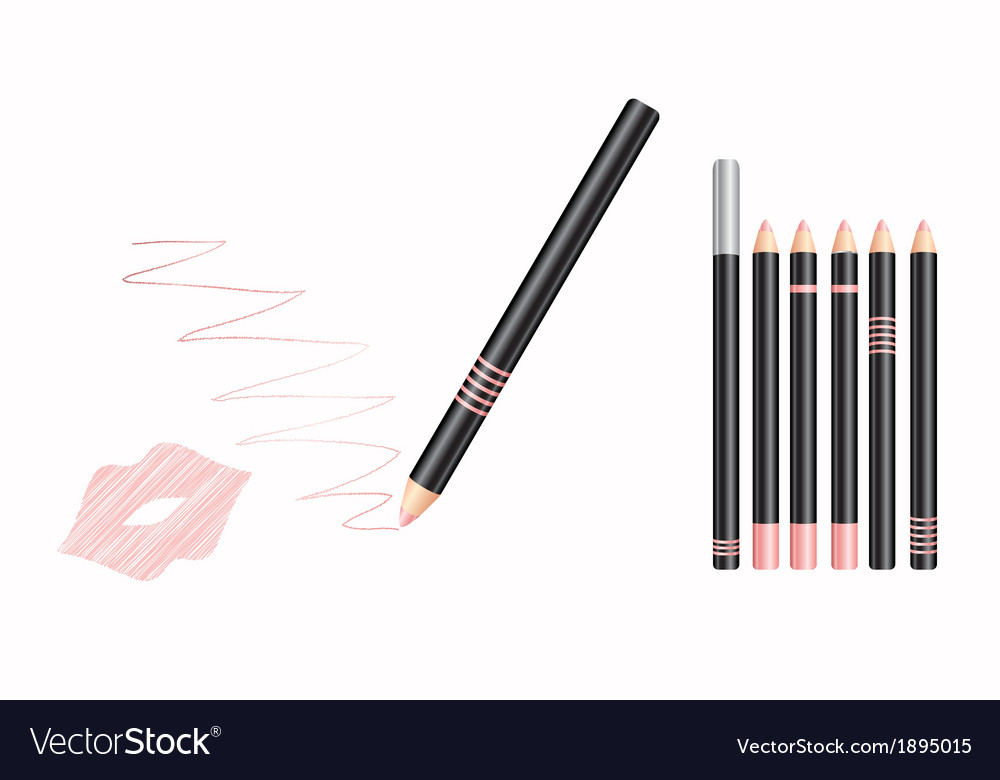 Cosmetic lip liner vector | Price: 1 Credit (USD $1)