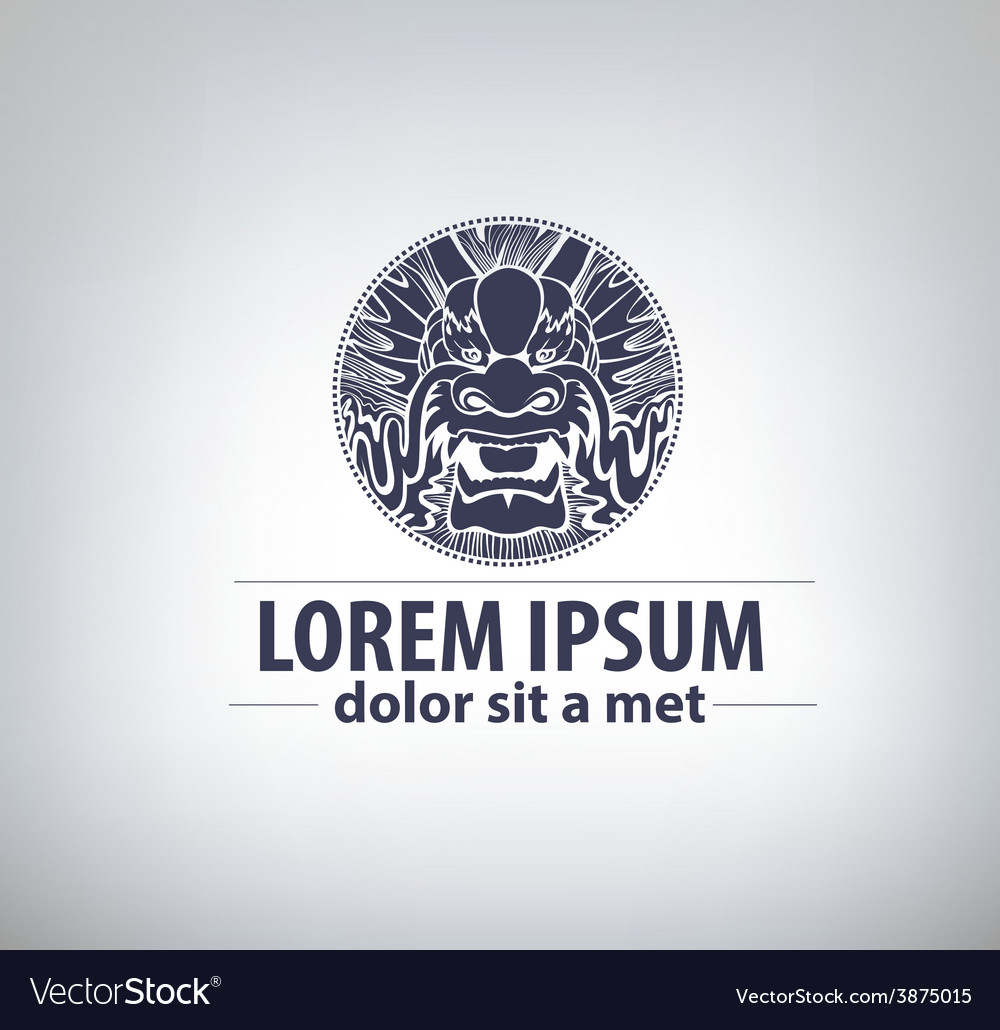 Dragon label logo templat for your business vector | Price: 1 Credit (USD $1)