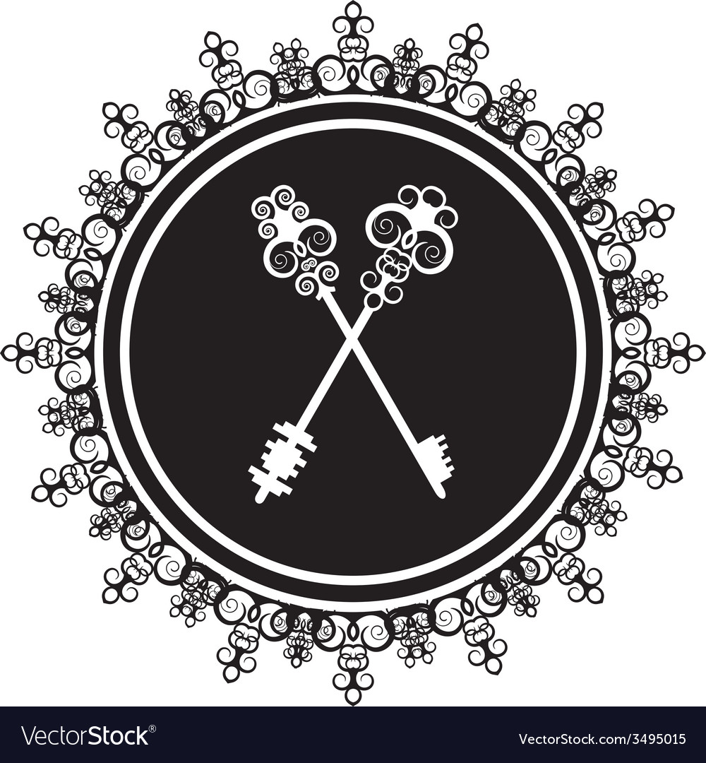 Emblem with keys vector | Price: 1 Credit (USD $1)