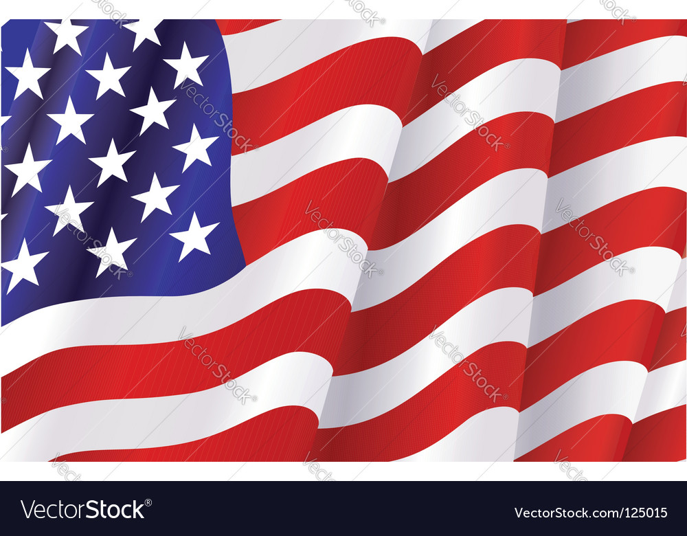 Flag of united states of america vector | Price: 1 Credit (USD $1)