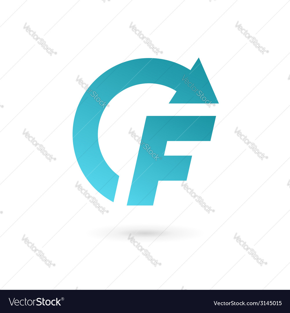 Letter f arrow logo icon design template elements vector | Price: 1 Credit (USD $1)