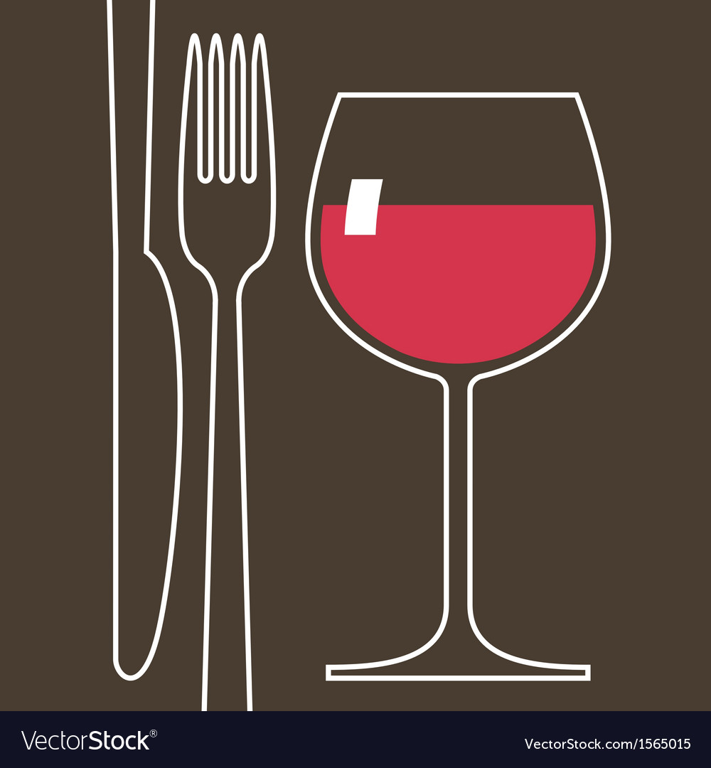 Wineglass and cutlery vector | Price: 1 Credit (USD $1)