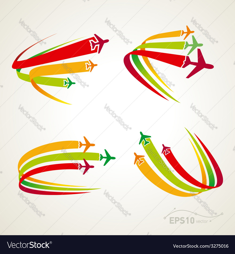 Airplane flight tickets air fly cloud sky travel vector | Price: 1 Credit (USD $1)