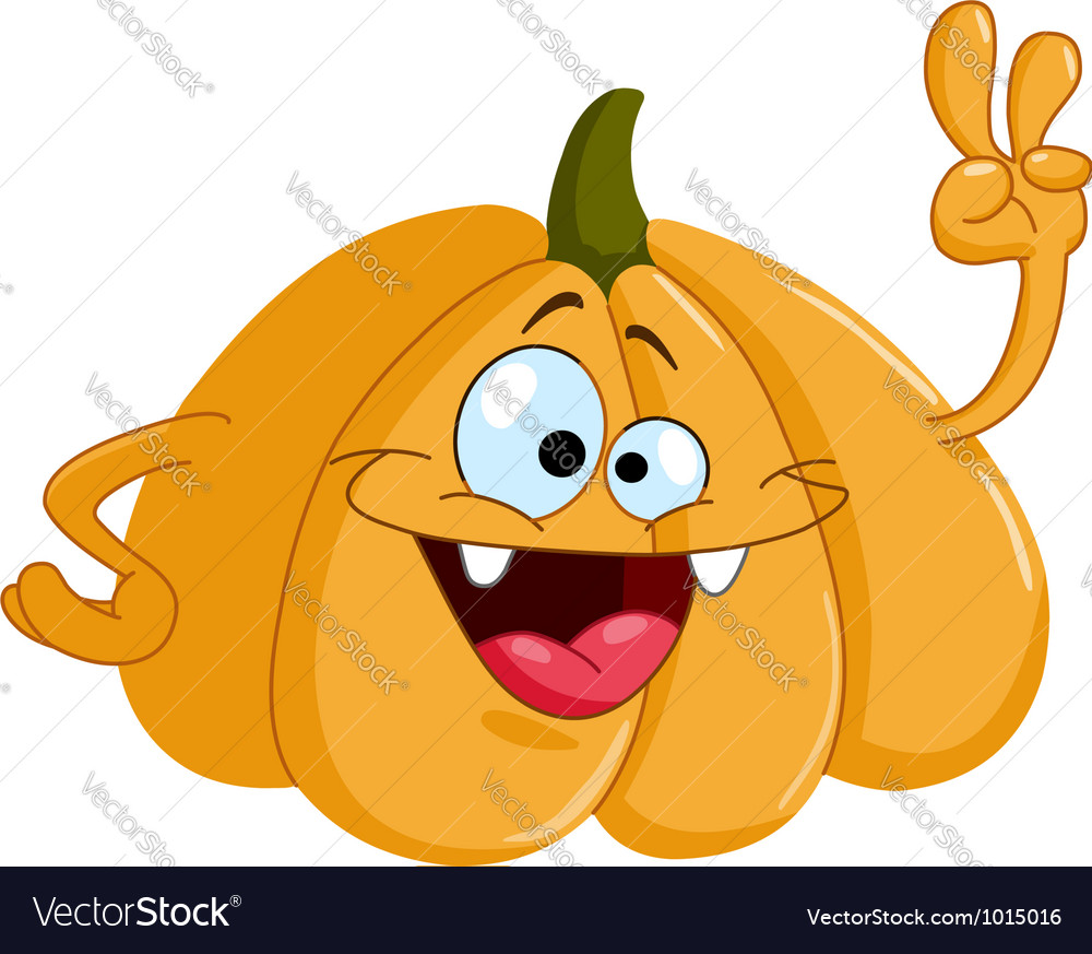 Cartoon pumpkin vector | Price: 3 Credit (USD $3)