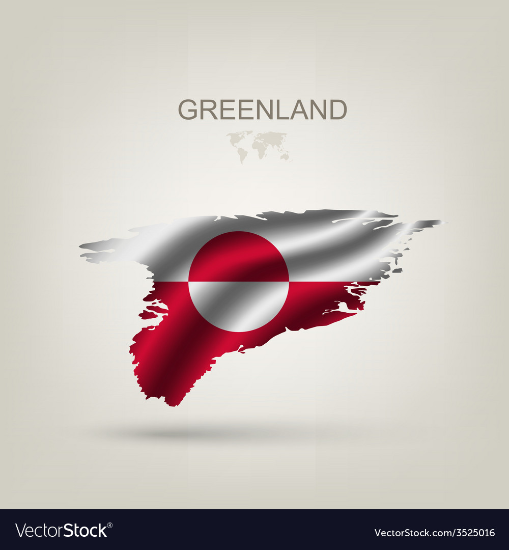 Flag of greenland as a country vector | Price: 1 Credit (USD $1)
