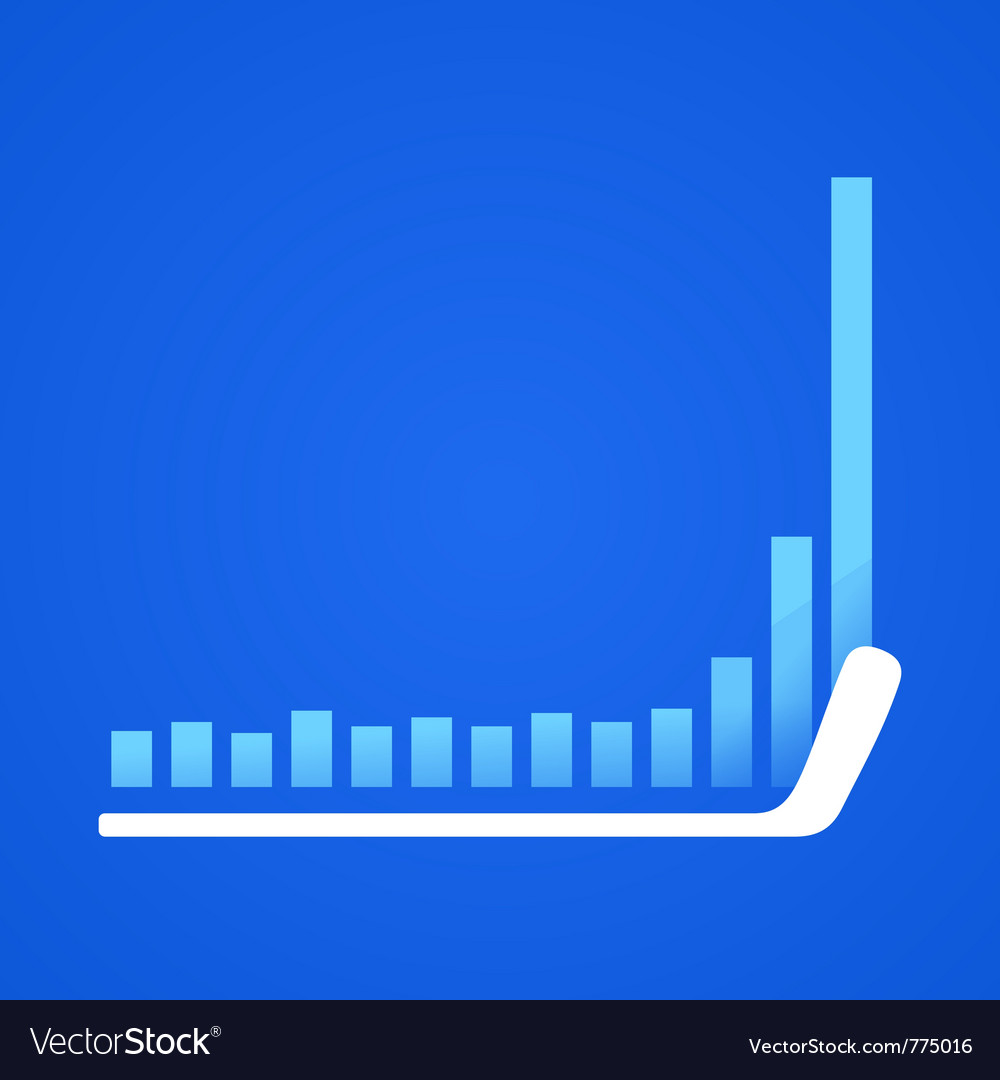 Hockey stick in business vector   Price: 1 Credit (USD $1)