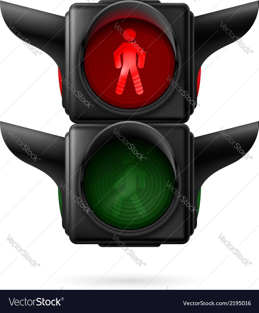 Pedestrian traffic light vector | Price: 1 Credit (USD $1)