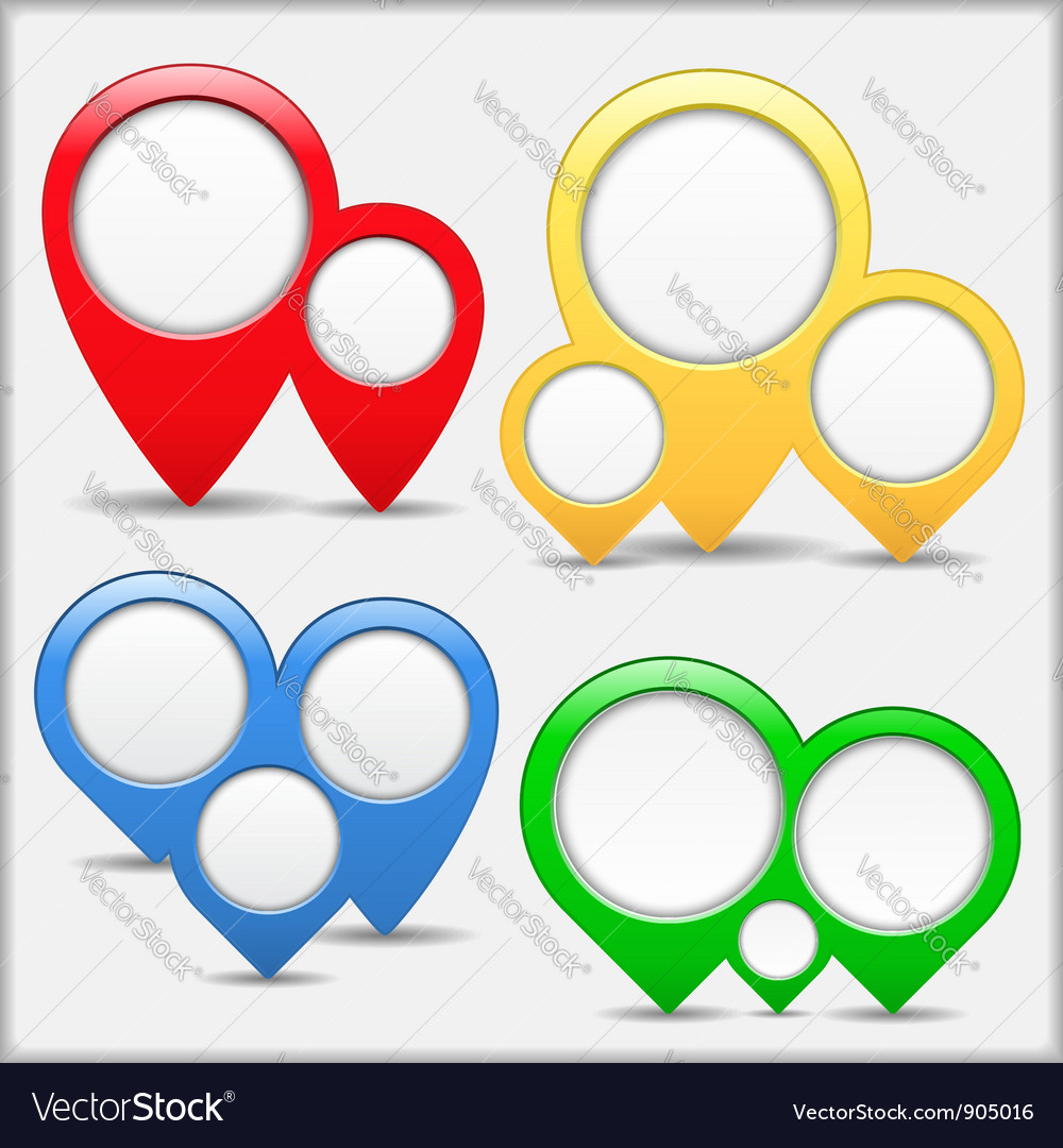 Pointers with circles vector | Price: 1 Credit (USD $1)