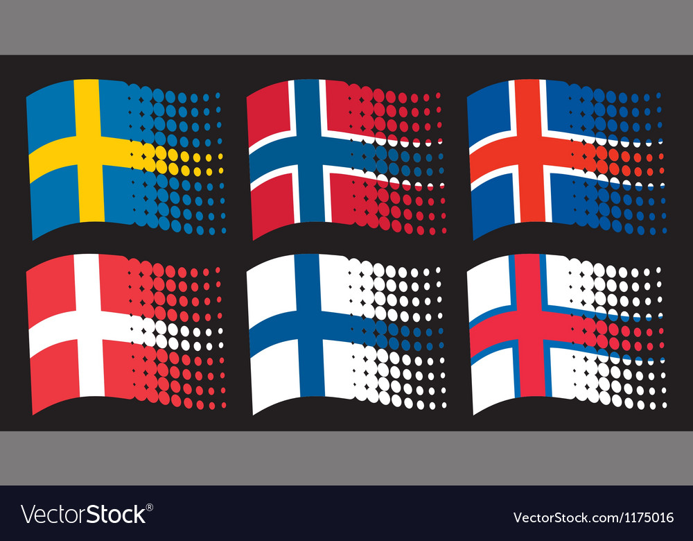 Scandinavian flags vector | Price: 1 Credit (USD $1)