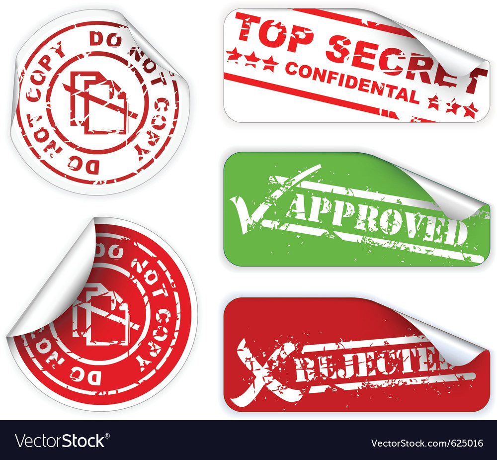 Top secret labels vector | Price: 1 Credit (USD $1)