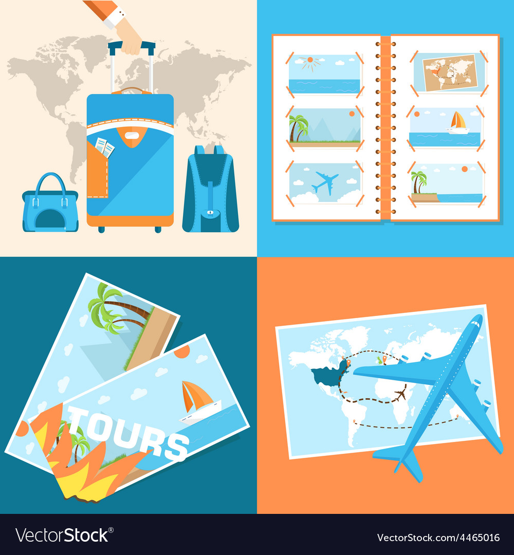 Tour of the world tourism with fast travel vector | Price: 1 Credit (USD $1)