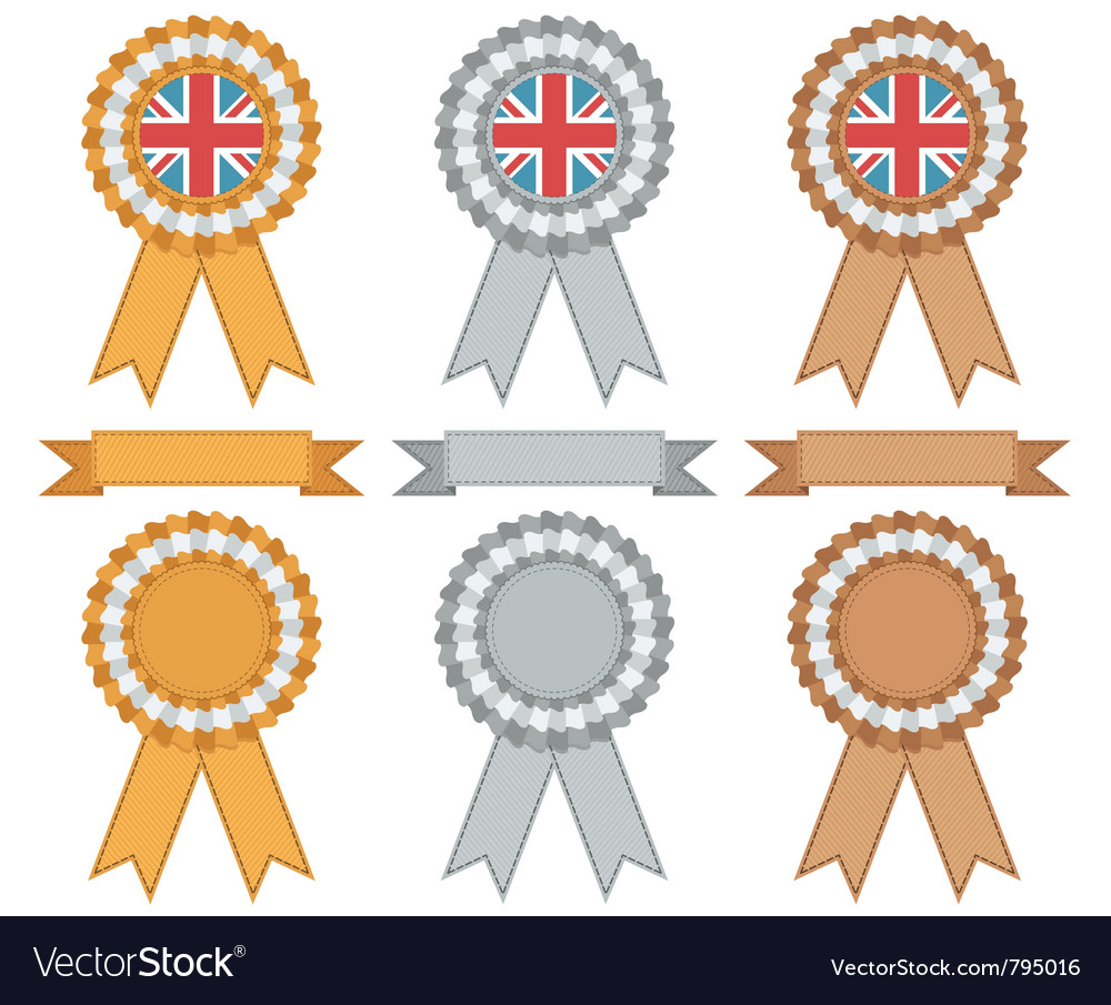 Uk gold silver bronze vector | Price: 1 Credit (USD $1)