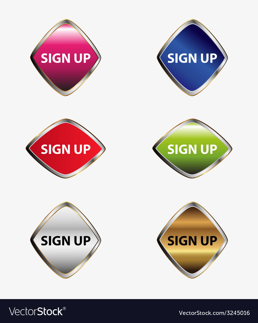 Web buttons sign up set vector