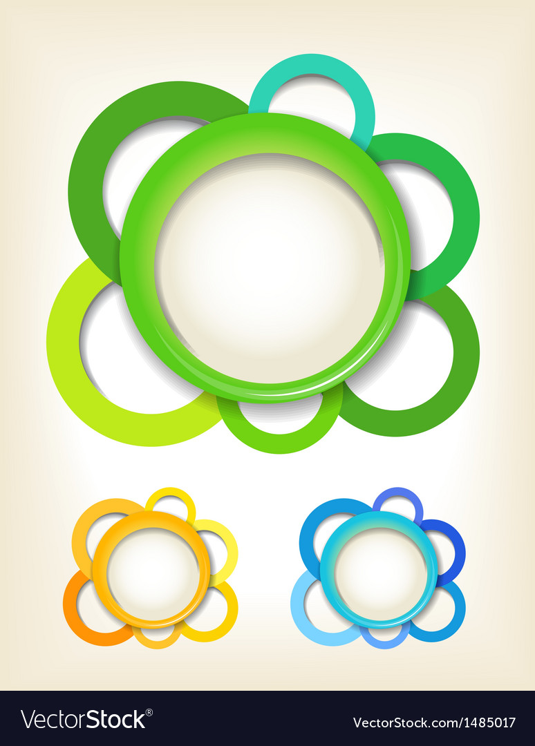 Abstract flowers collection vector | Price: 1 Credit (USD $1)