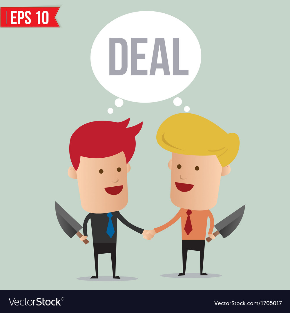 Business man hand shake - - eps10 vector | Price: 1 Credit (USD $1)
