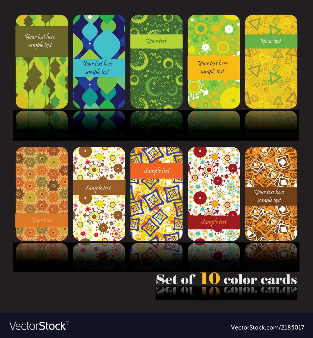 Decorative cards vector | Price: 1 Credit (USD $1)