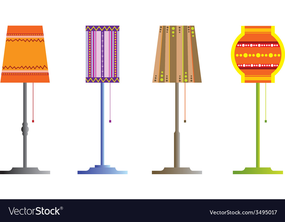 Floor lamps vector | Price: 1 Credit (USD $1)