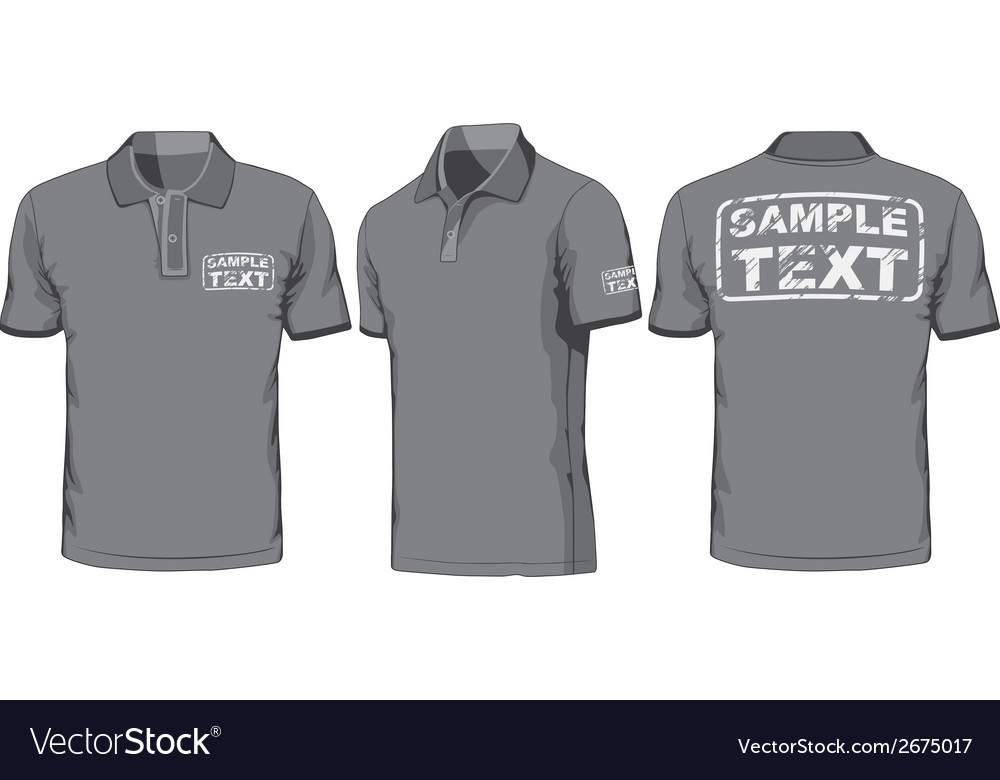 Front back and side views of polo-shirt vector | Price: 1 Credit (USD $1)