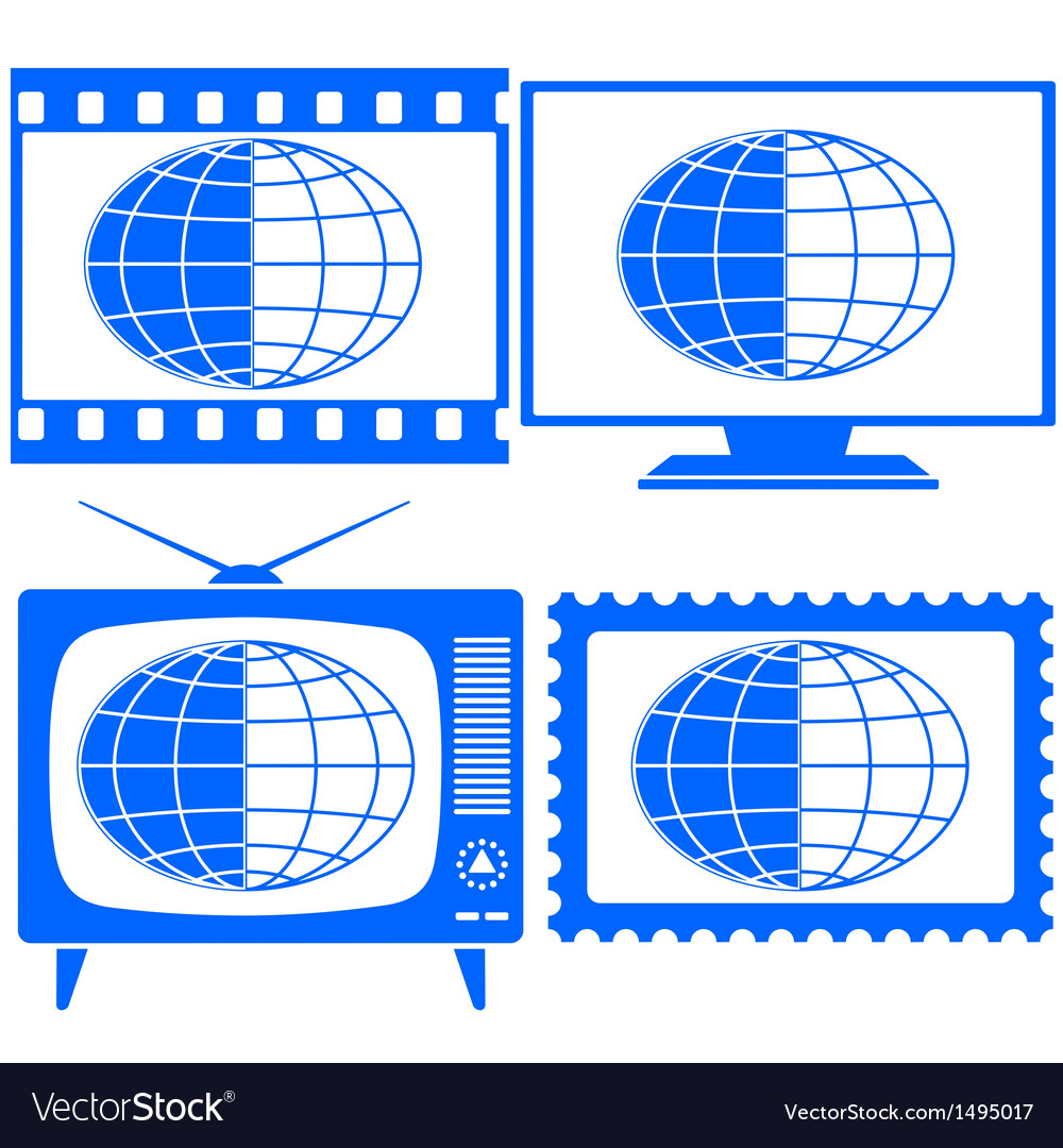 Globe icon set vector | Price: 1 Credit (USD $1)