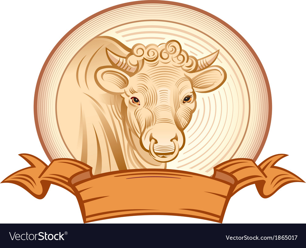 Graphical bull vector | Price: 3 Credit (USD $3)