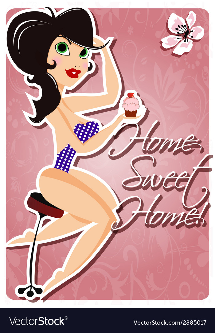 Motivation poster with pin up girl and message vector | Price: 1 Credit (USD $1)