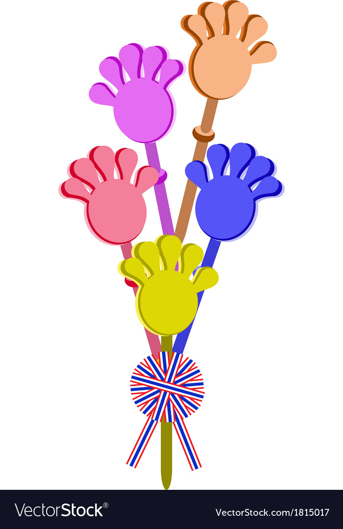 Plastic hand clap toy with a stripe ribbon vector | Price: 1 Credit (USD $1)
