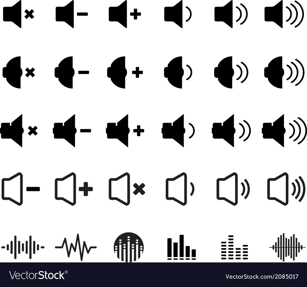 Sound and equalizer icon vector | Price: 1 Credit (USD $1)