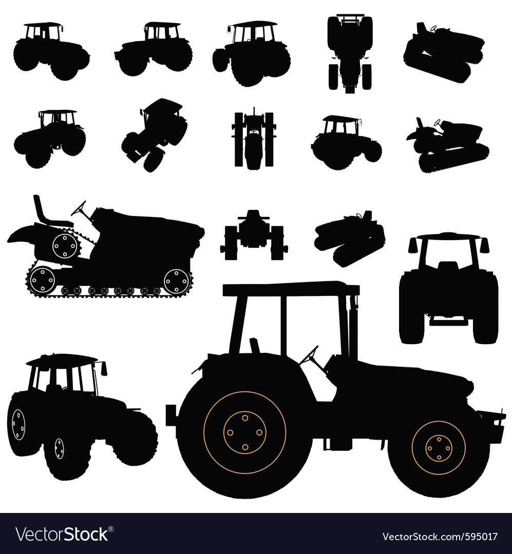 Tractor silhouette vector | Price: 1 Credit (USD $1)