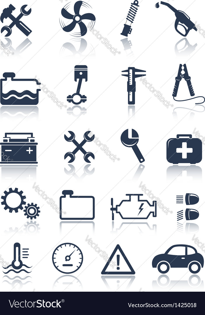 Auto service icons vector | Price:  Credit (USD $)