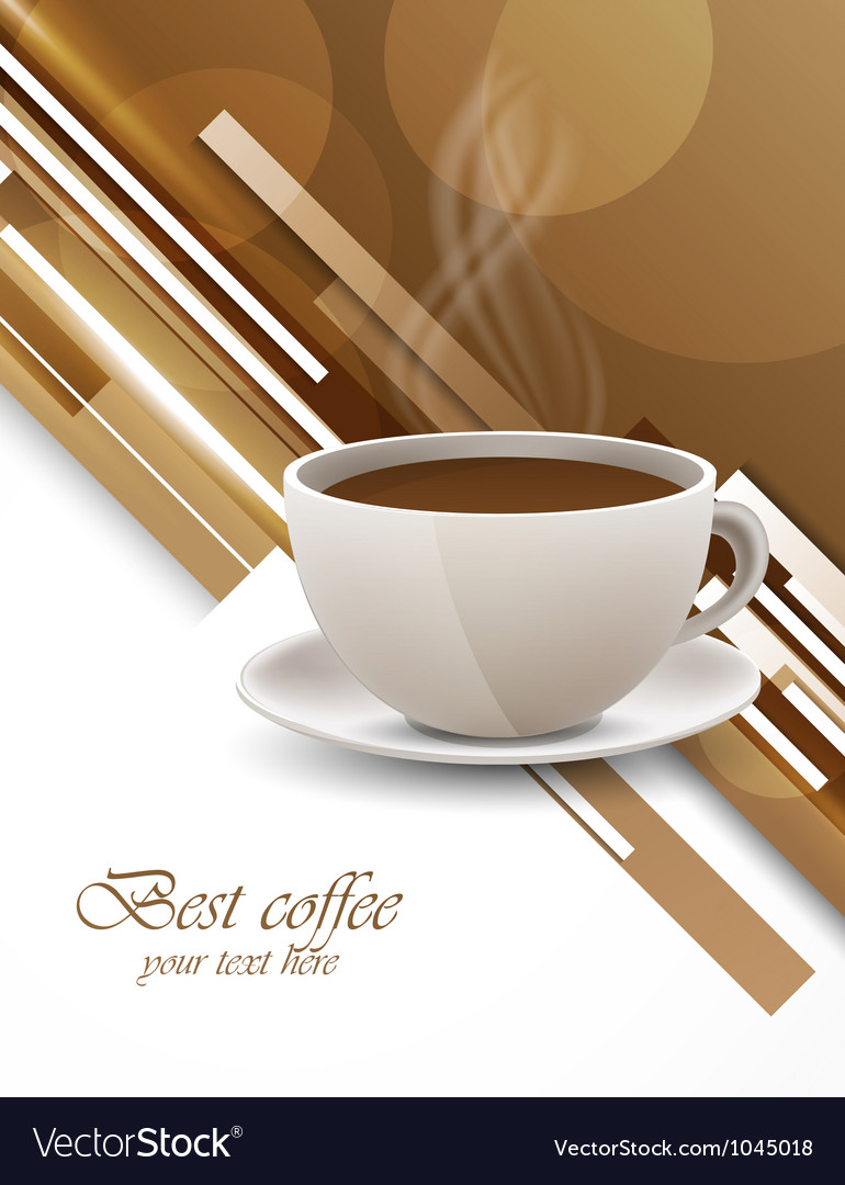 Background with coffee cup vector | Price: 1 Credit (USD $1)