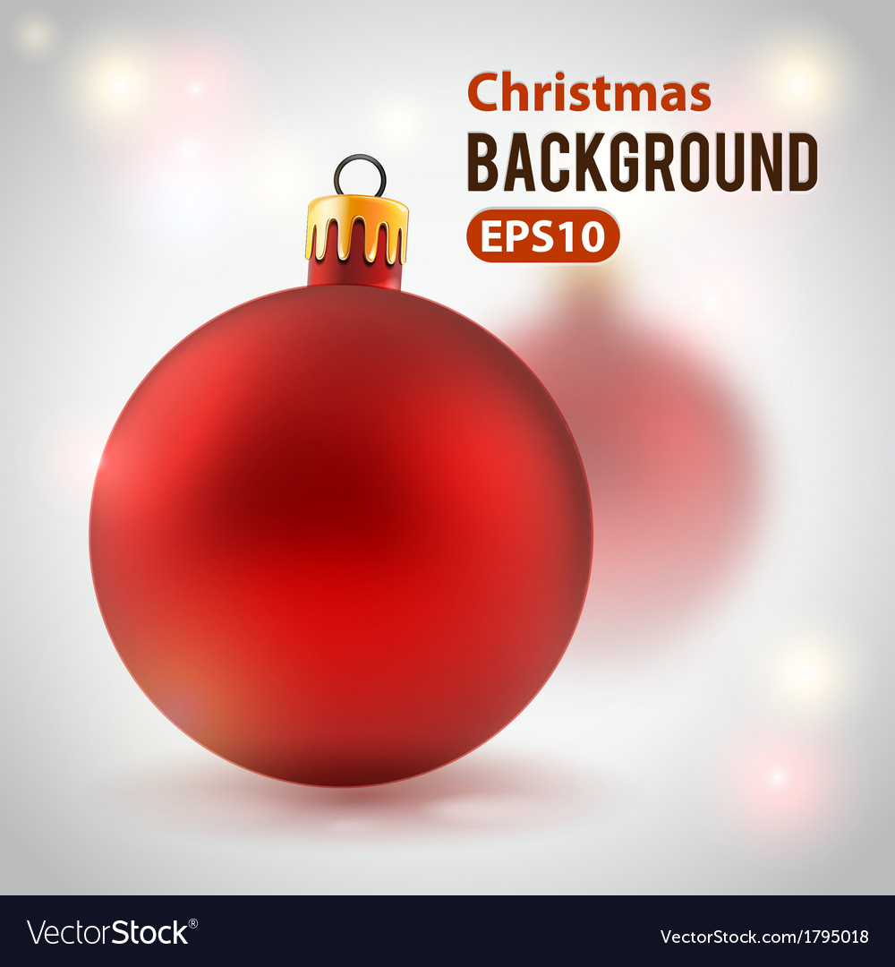 Holiday background with toy ball vector | Price: 1 Credit (USD $1)
