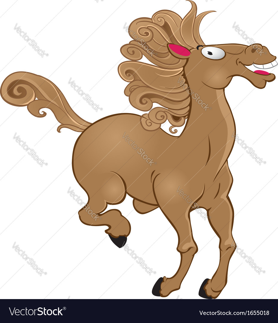 Horse isolated on white background vector | Price: 1 Credit (USD $1)