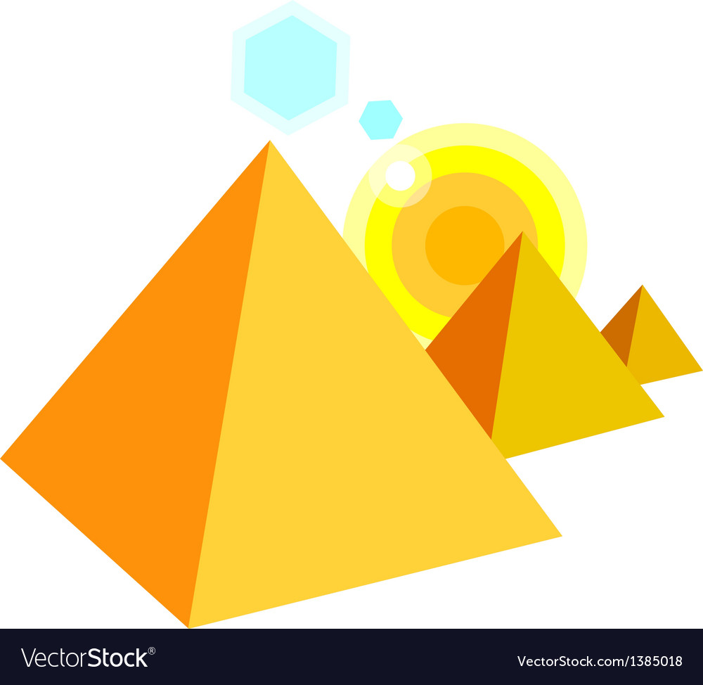 Icon pyramid vector | Price: 1 Credit (USD $1)