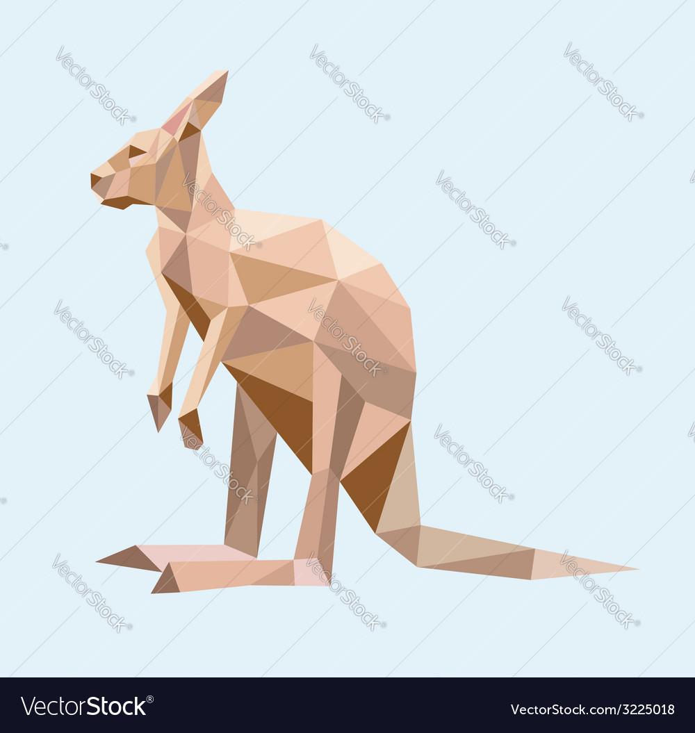 Kangaroo low polygon style vector | Price: 1 Credit (USD $1)