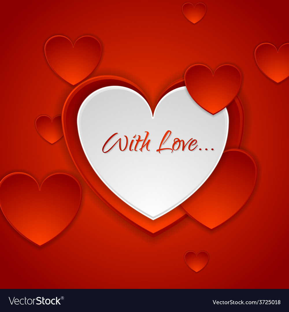 Red romance background with hearts vector | Price: 1 Credit (USD $1)