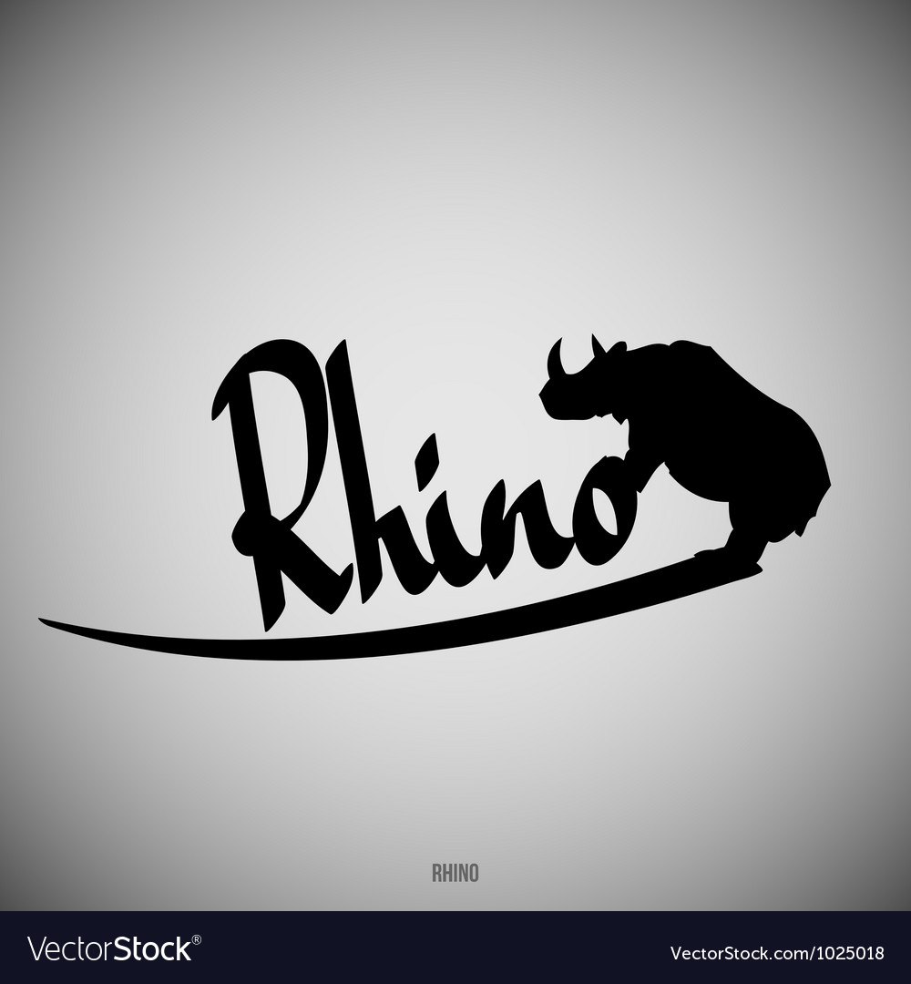 Rhino calligraphic elements vector | Price: 1 Credit (USD $1)