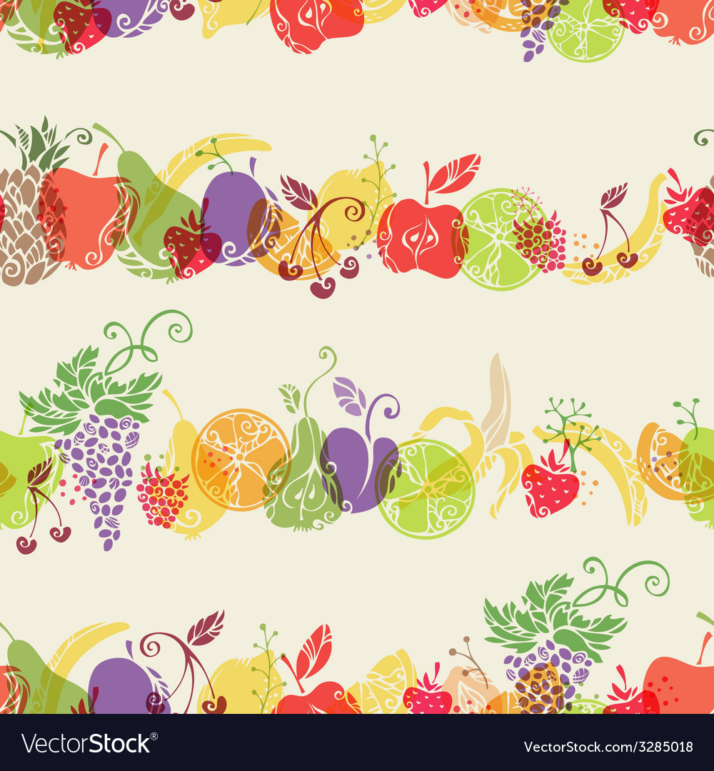 Seamless fruits pattern vector   Price: 1 Credit (USD $1)