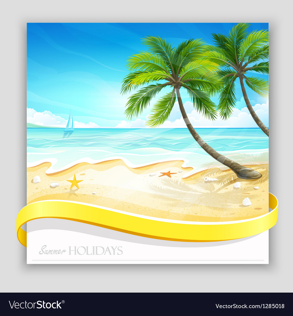 Tropical island vector | Price: 5 Credit (USD $5)