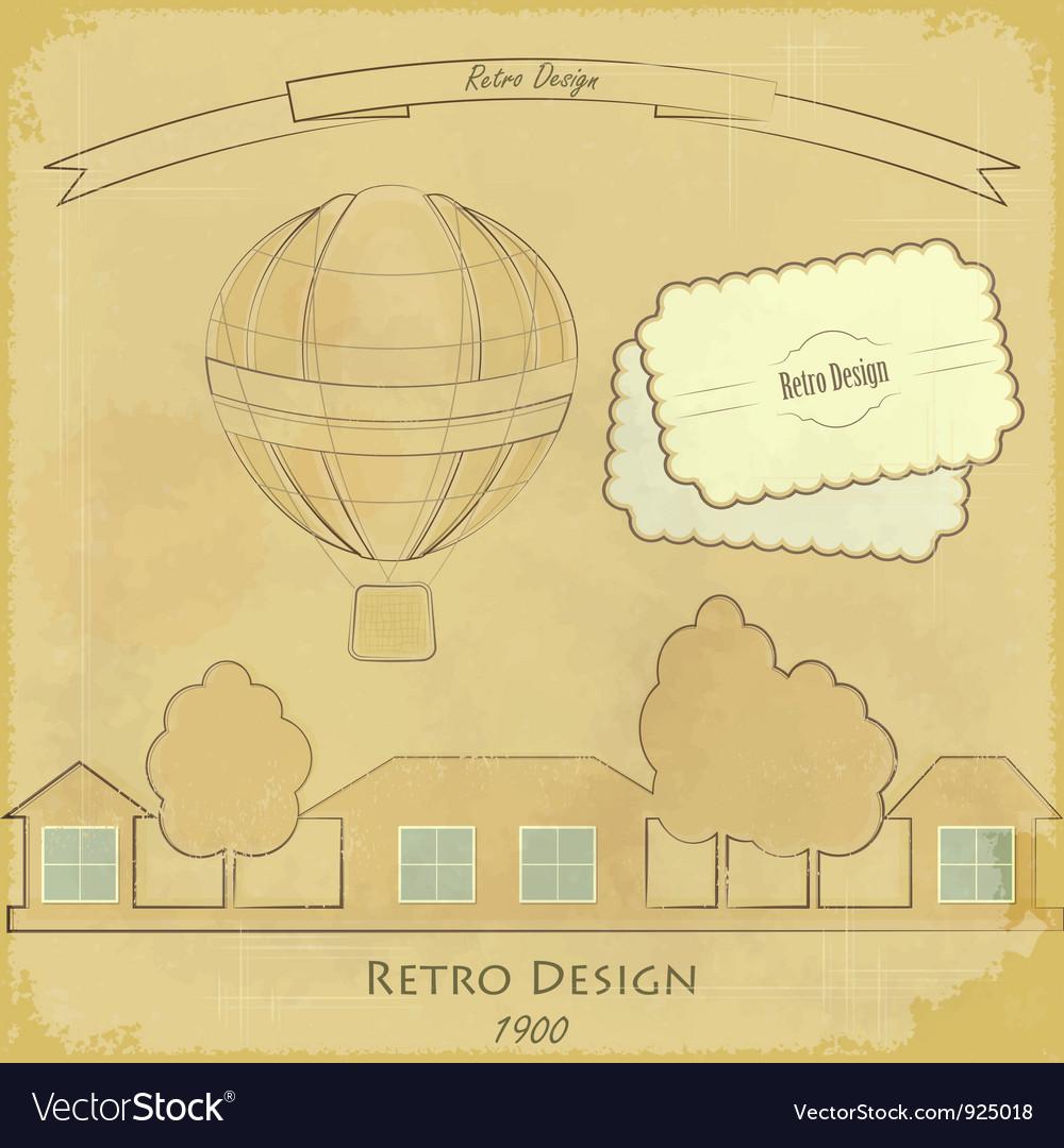 Vintage air balloon vector | Price: 1 Credit (USD $1)