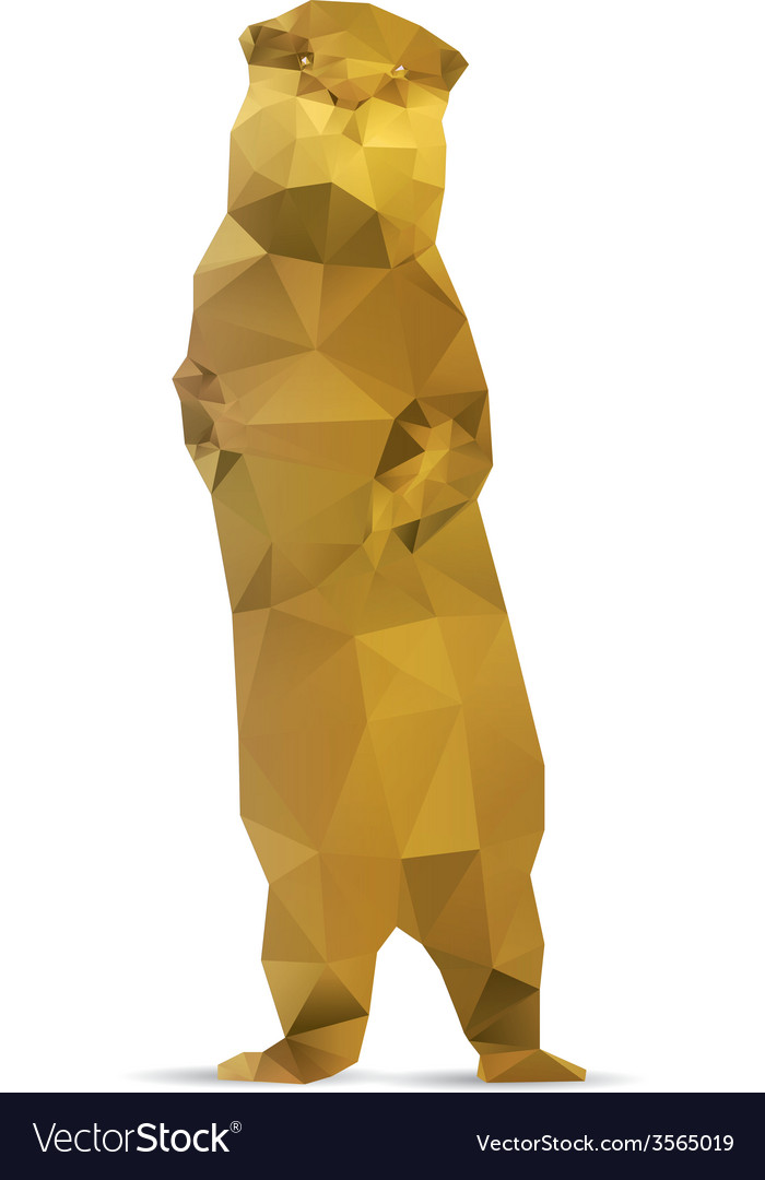 Abstract meerkat vector | Price: 1 Credit (USD $1)