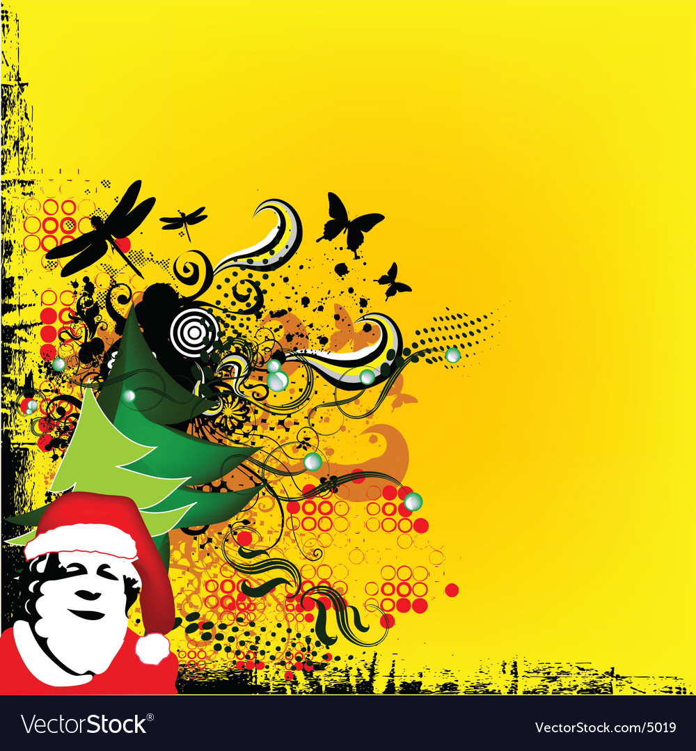 Christmas greeting card with santa vector | Price: 1 Credit (USD $1)