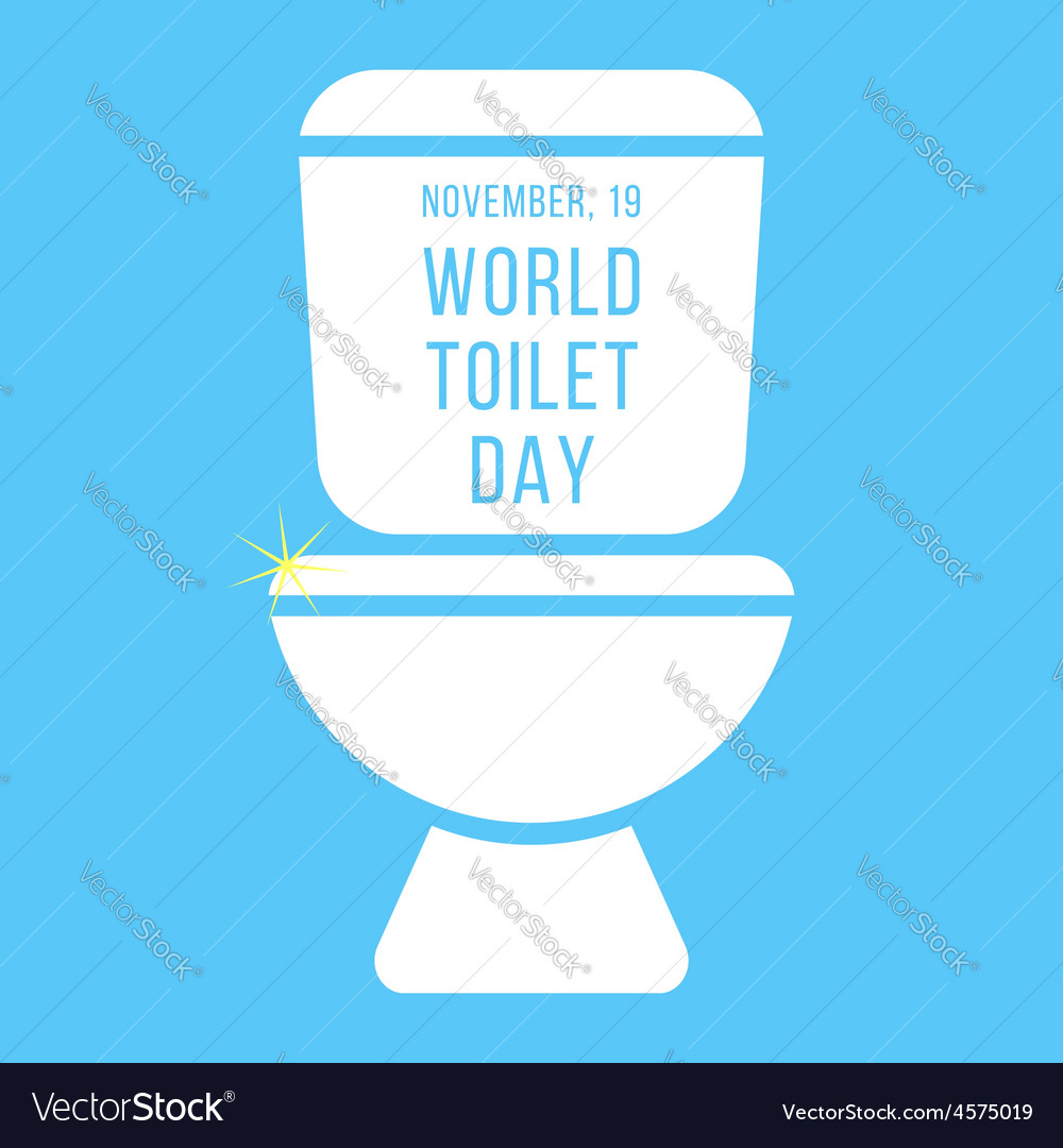 Concept of world toilet day with inscription on vector | Price: 1 Credit (USD $1)