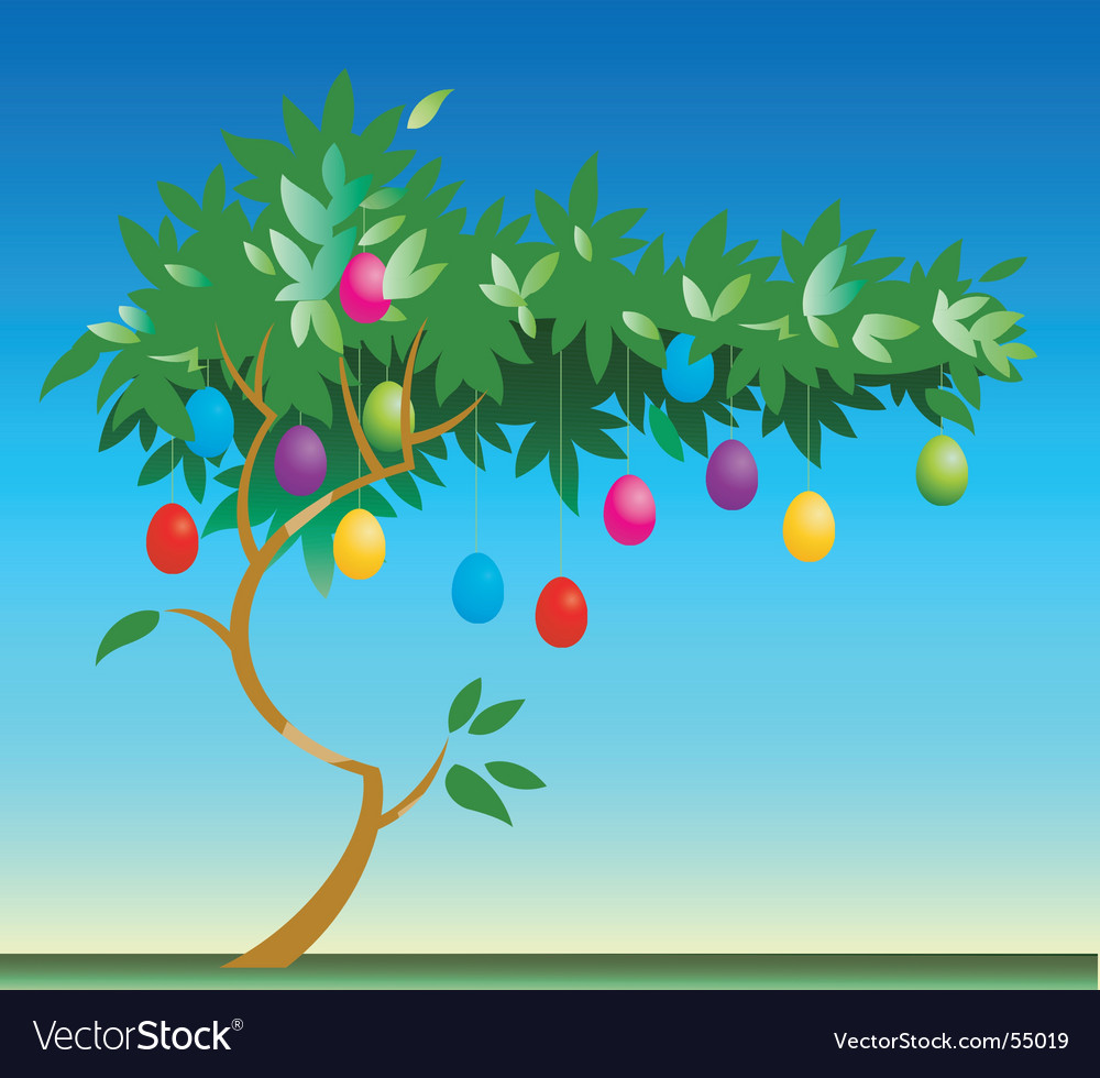 Easter egg tree vector | Price: 1 Credit (USD $1)